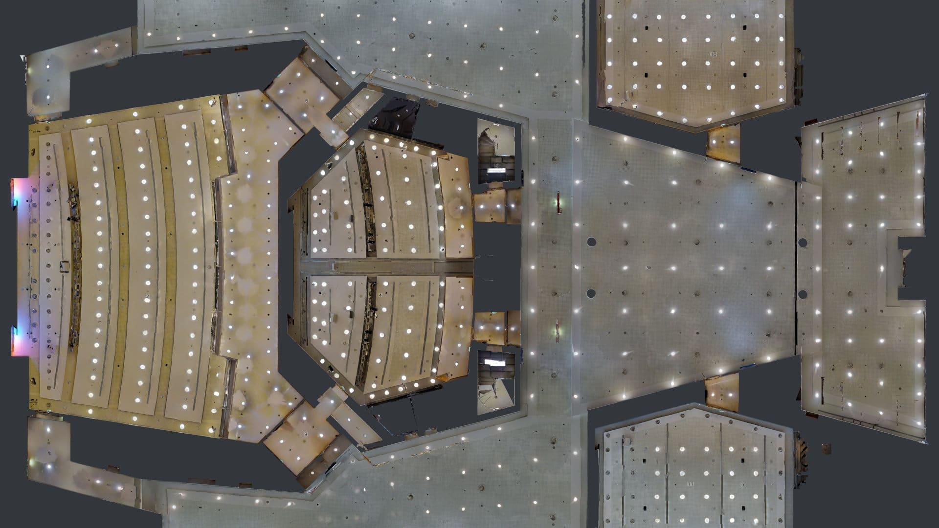 Bild des gespiegelten Deckenplans